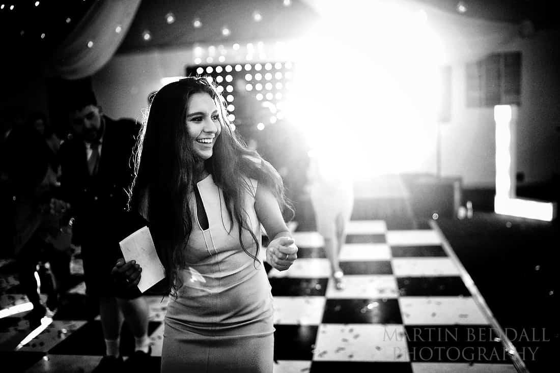 Wedding guest enjoying the dance floor