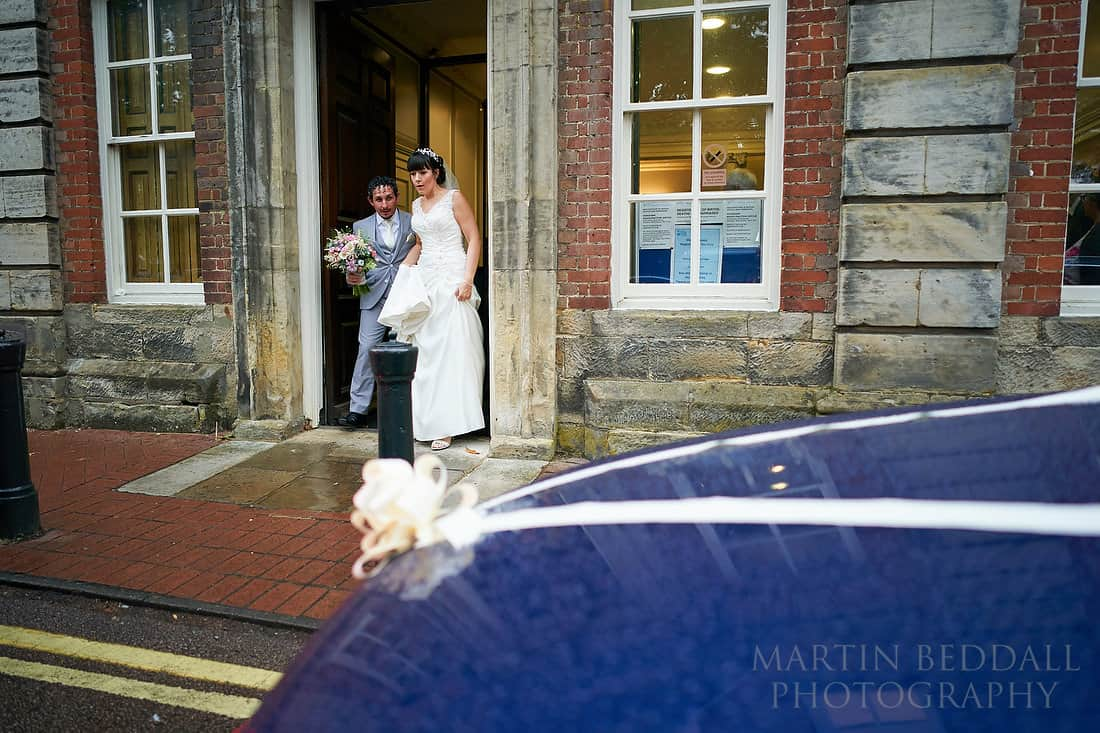 Leaving the registry office