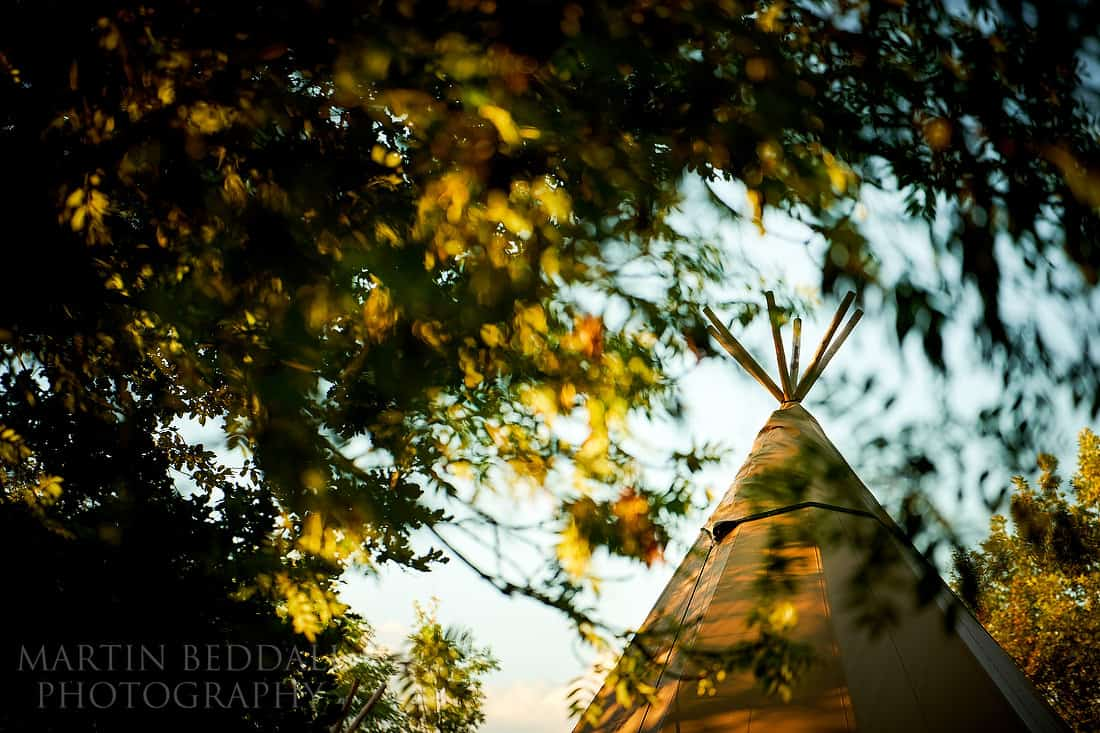 Five Oaks events wedding tipi