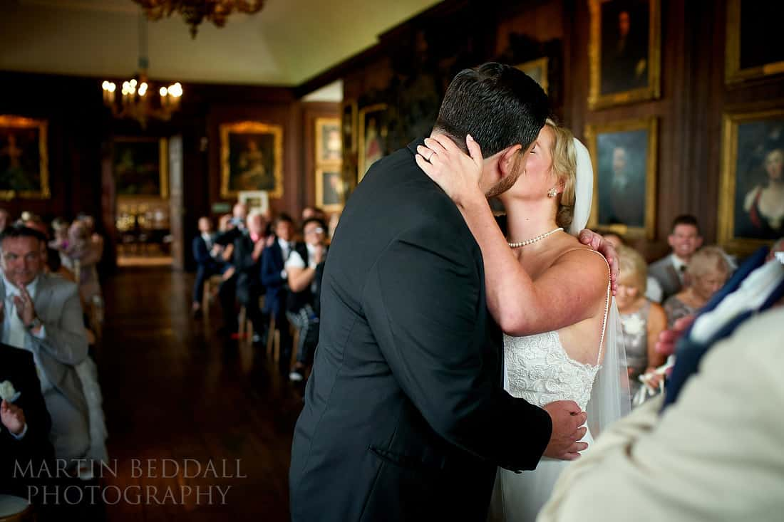 Wedding ceremony at Glynde Place