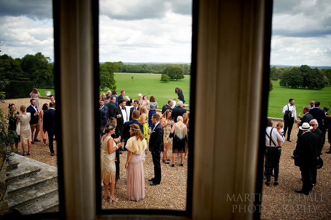 Wedding reception at Glynde Place