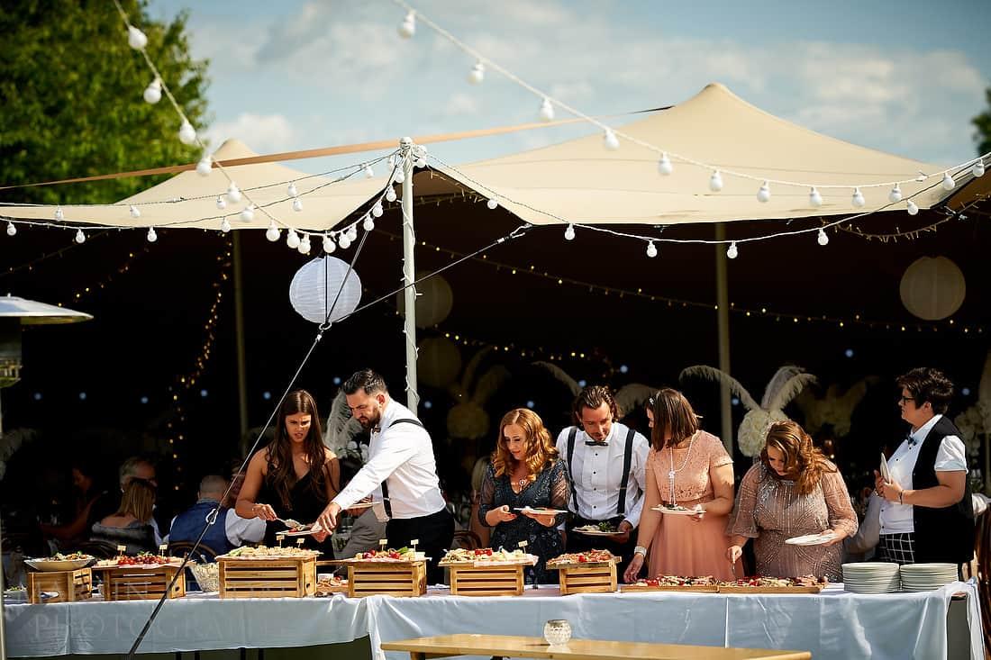 Glynde Place wedding buffet