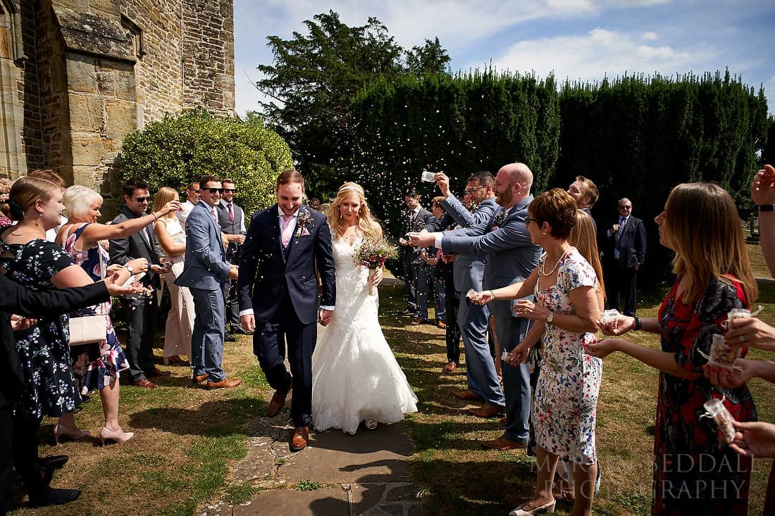 confetti at Warnham church