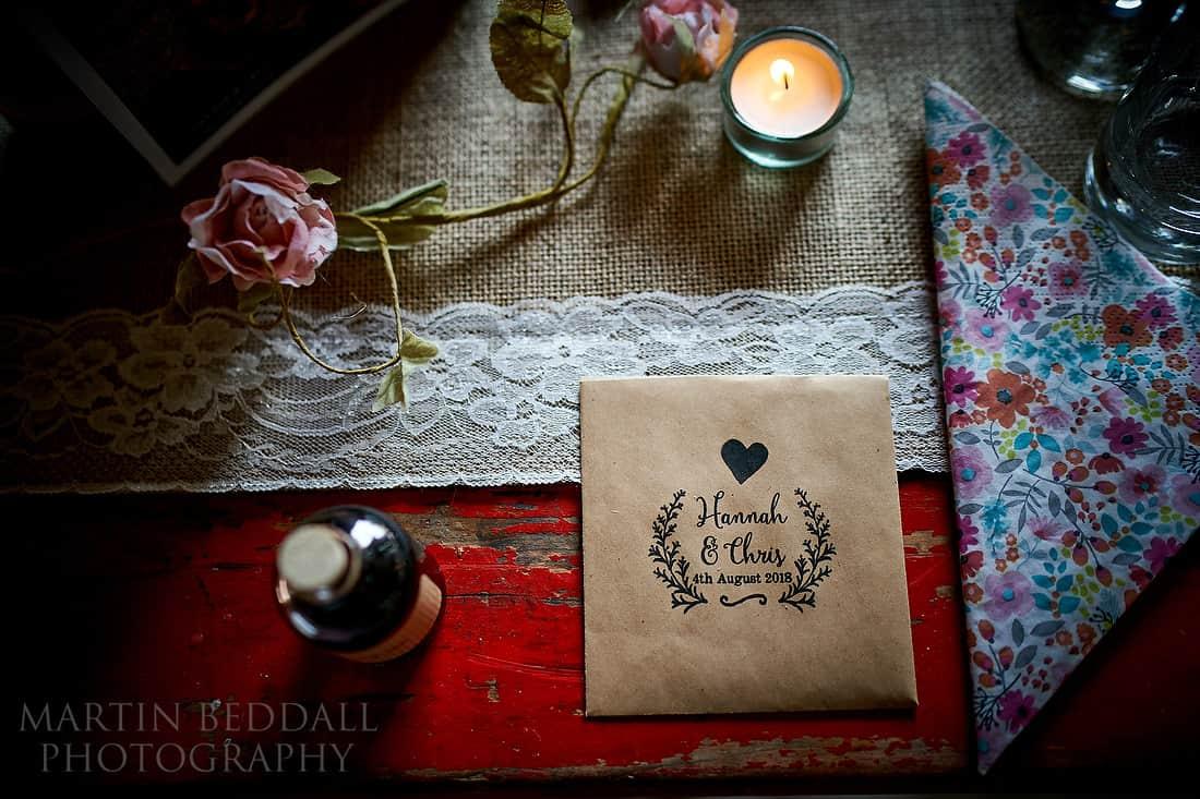 Details at Secret Barn wedding