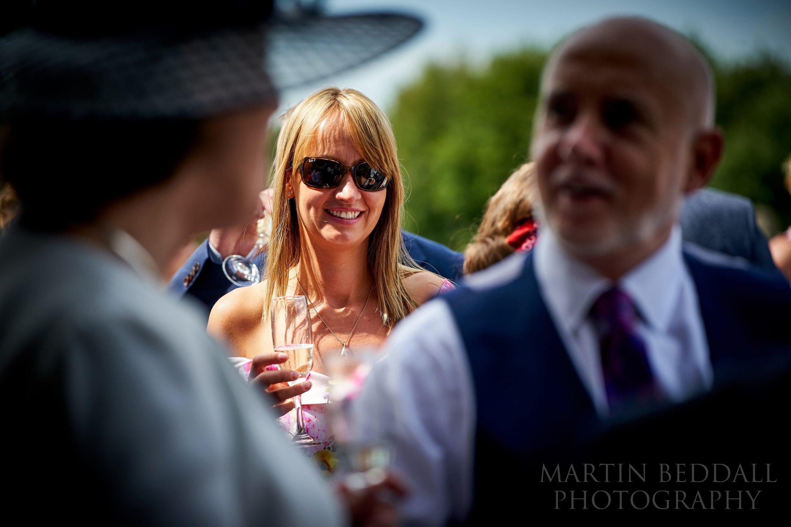 Guest at Secret Barn wedding