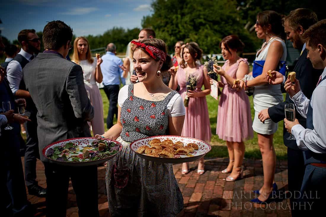 wedding reception at The Secret Barn