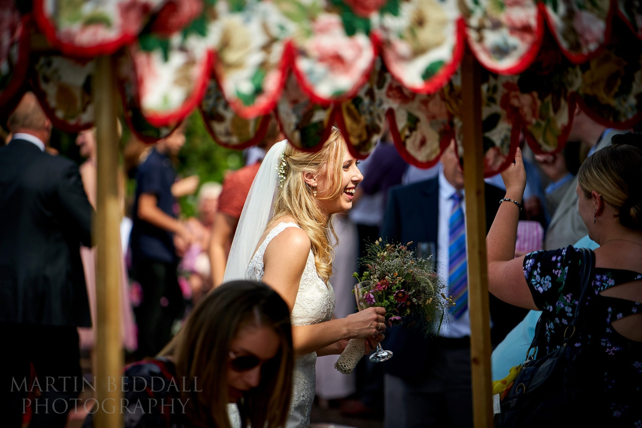 Bride at Secret Barn wedding