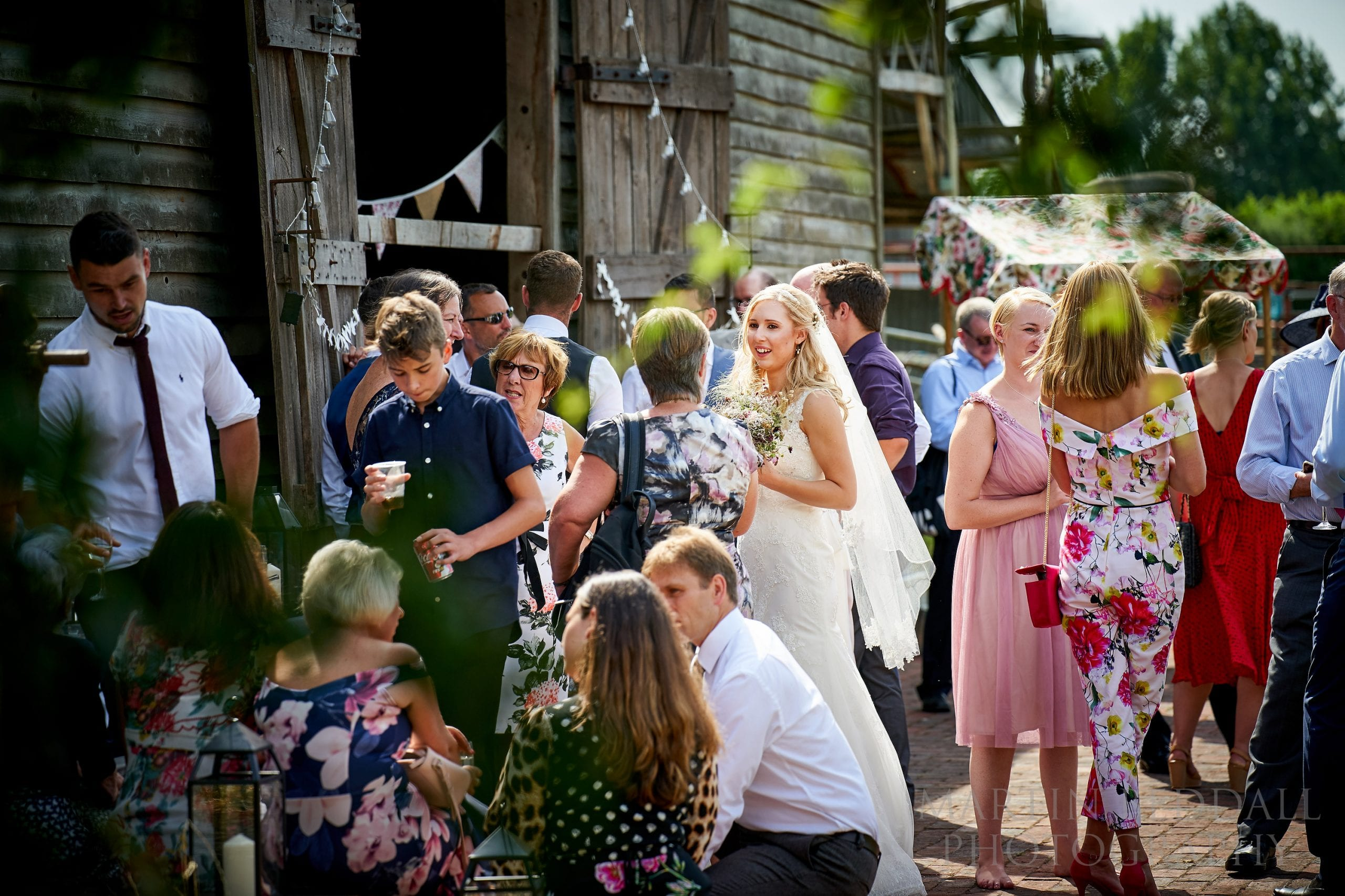 Wedding reception at The Secret Barn in Sussex