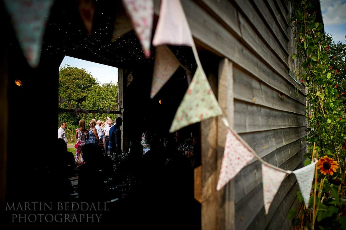 wedding reception at The Secret Barn
