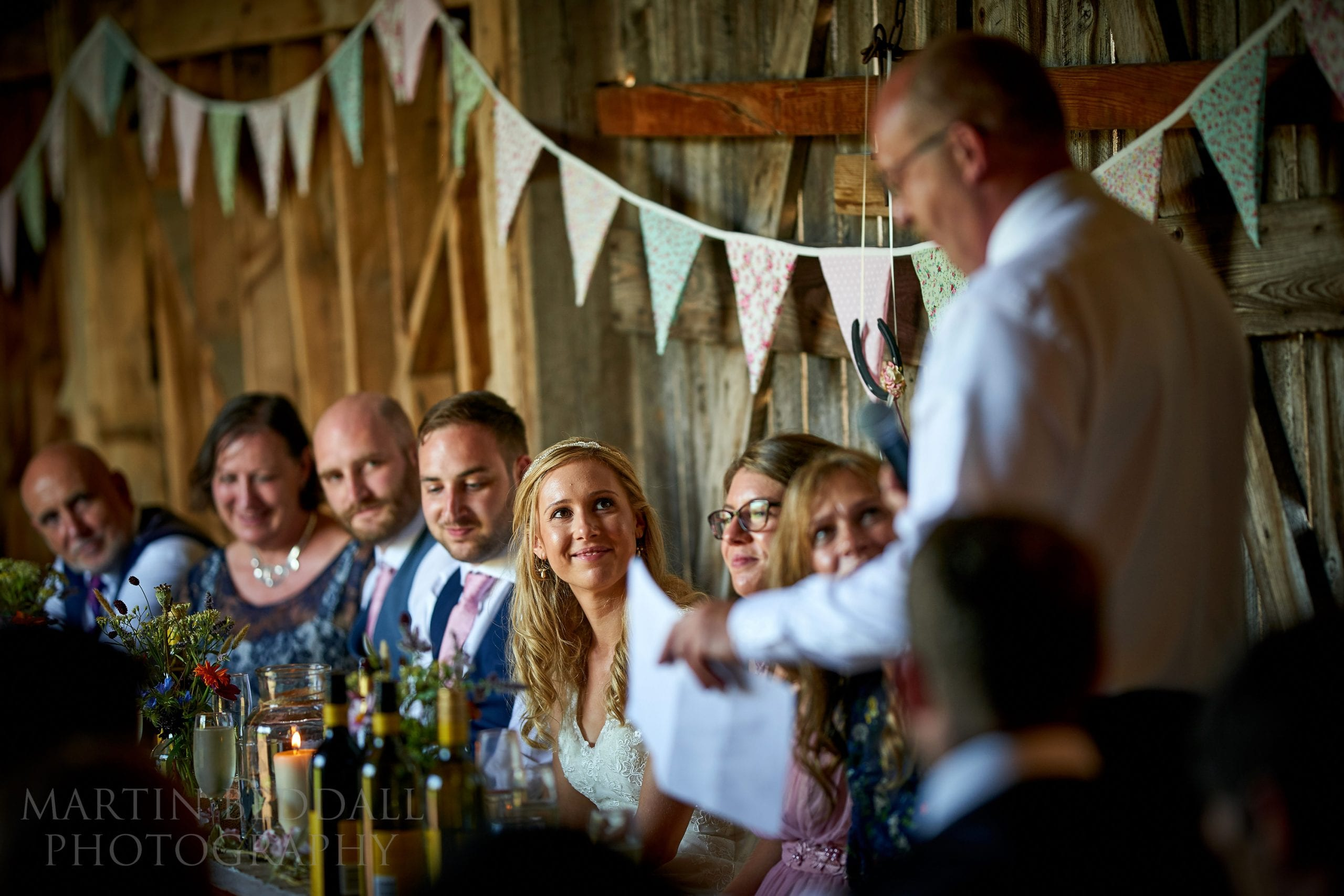 Father of the bride speech at The Secret Barn