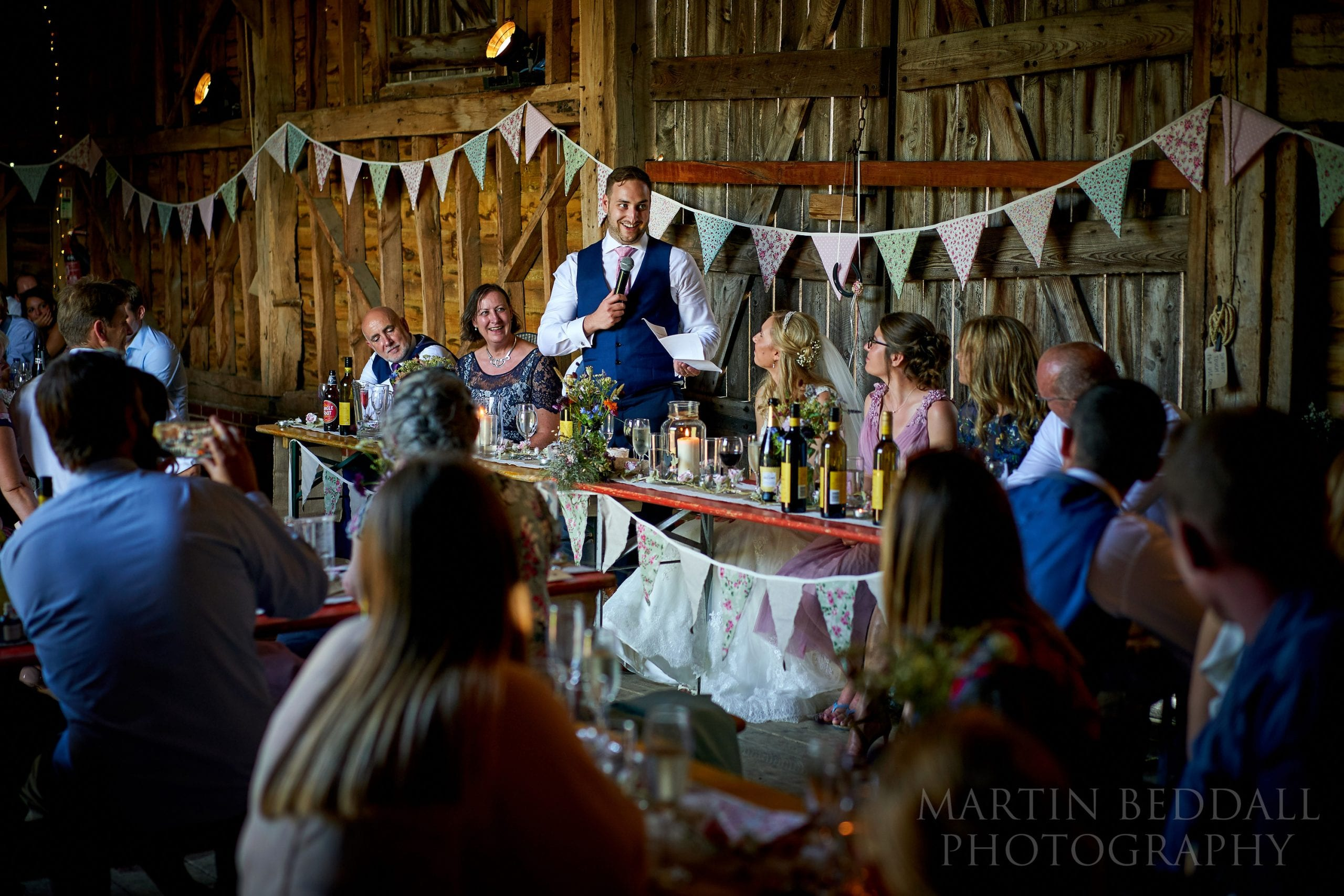 Secret Barn wedding speeches