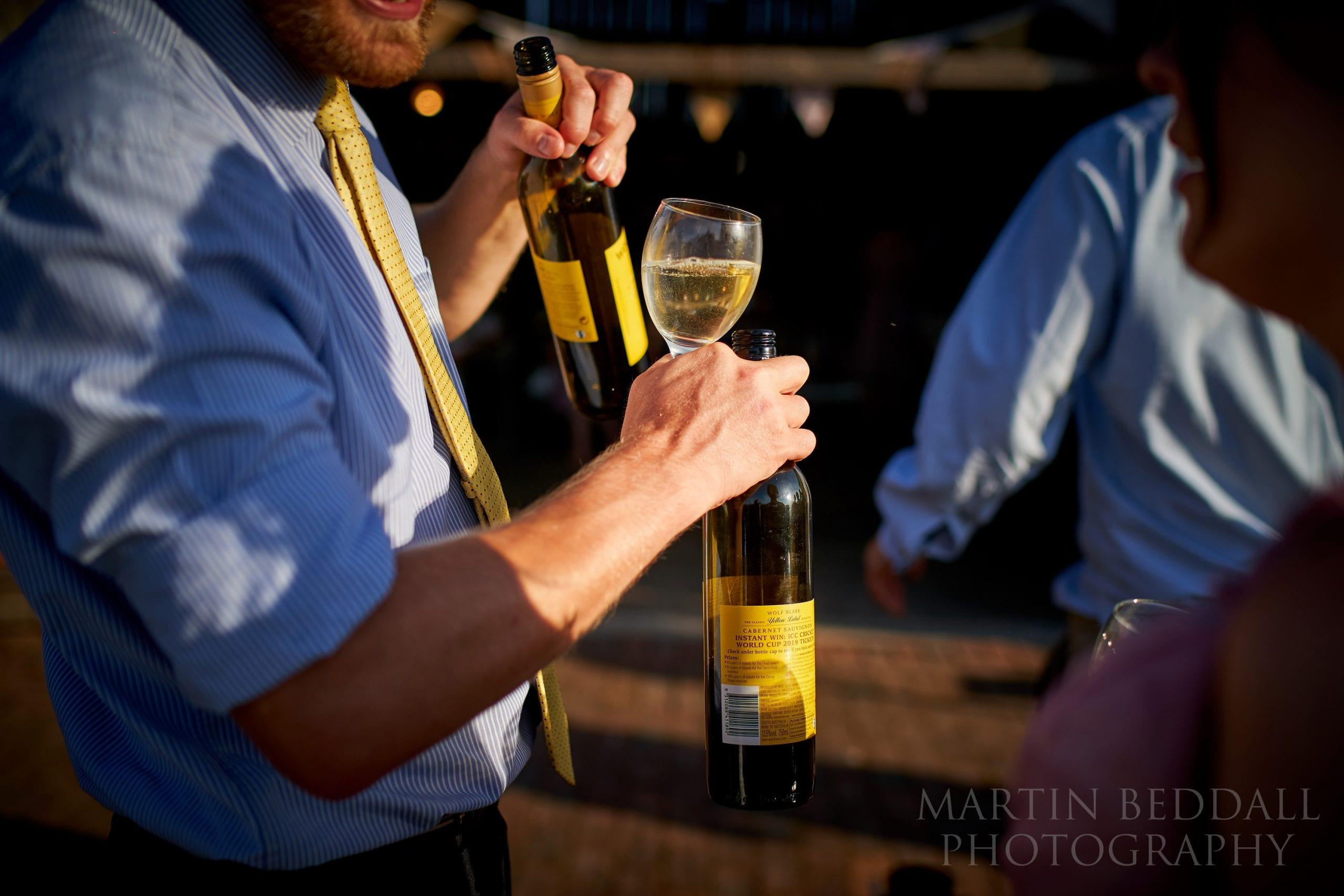 wedding wine on a summer's evening