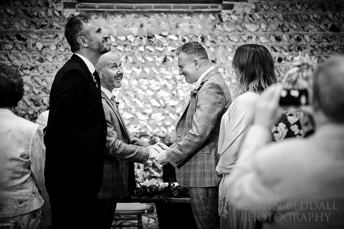 emotional same-sex wedding ceremony