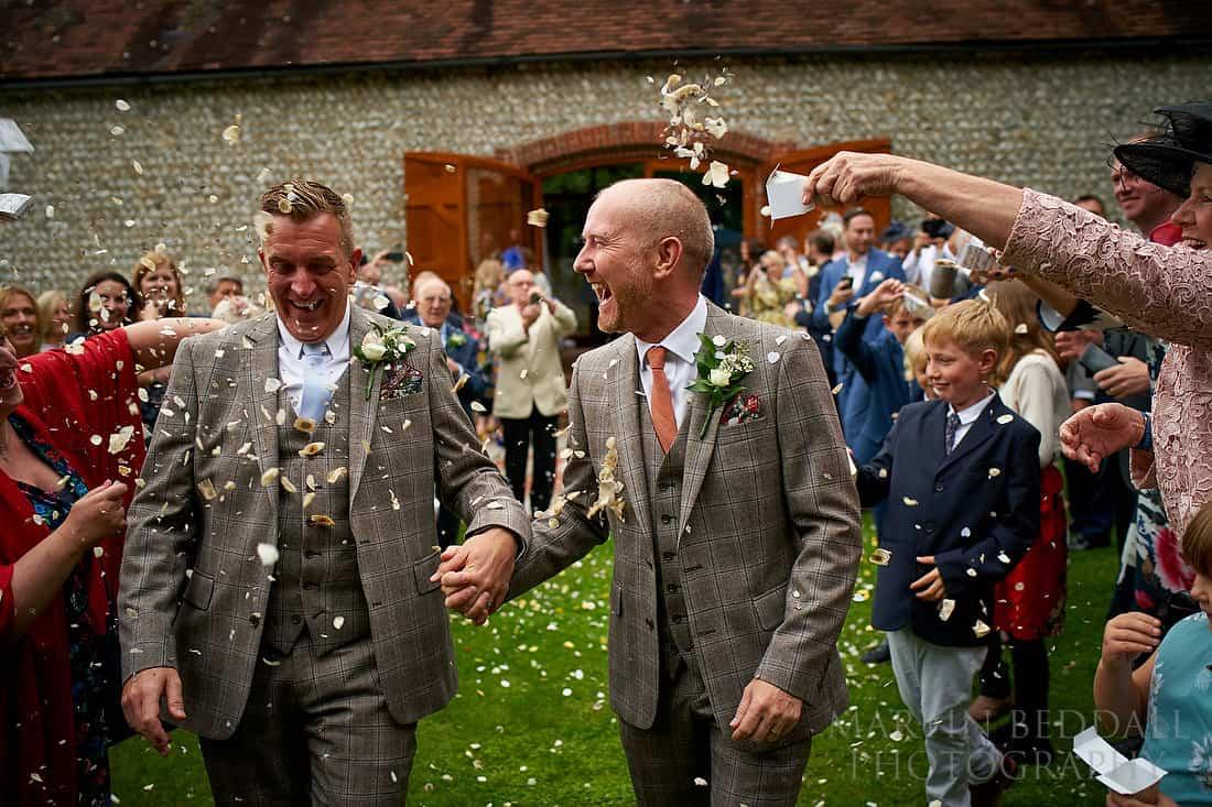 same sex wedding at Cissbury