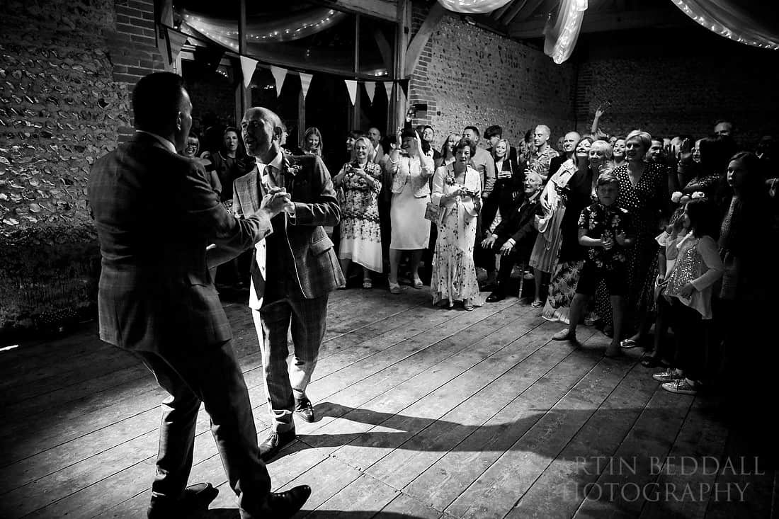two grooms first dance