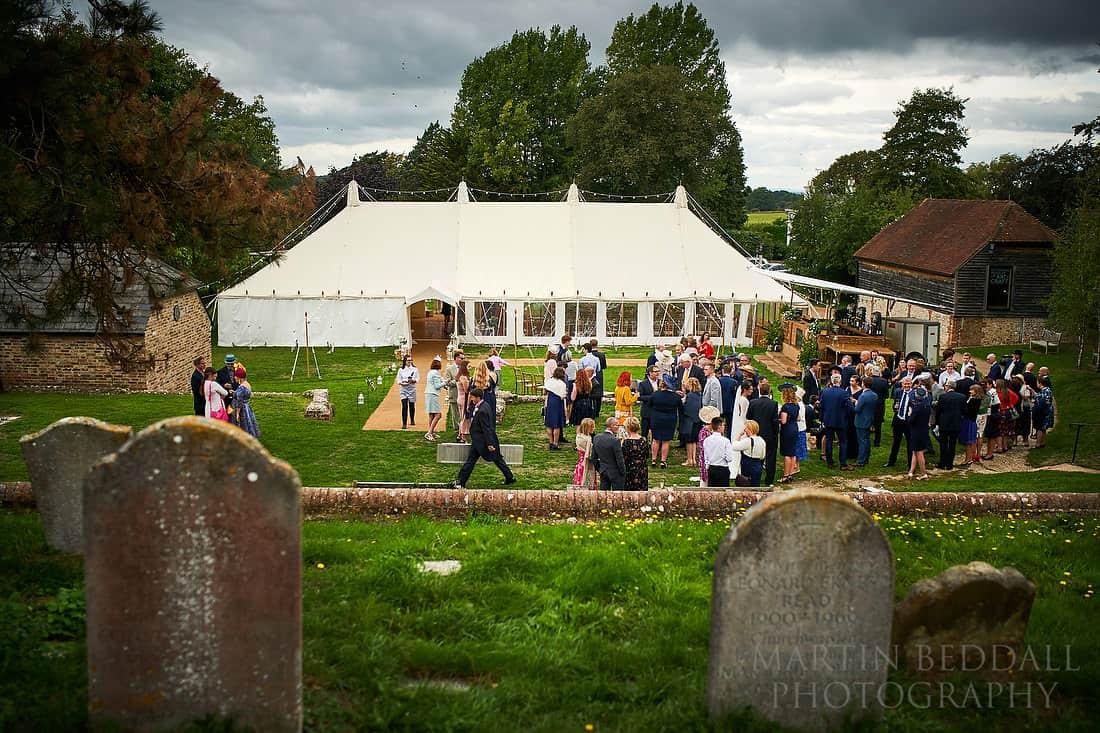 Village green wedding