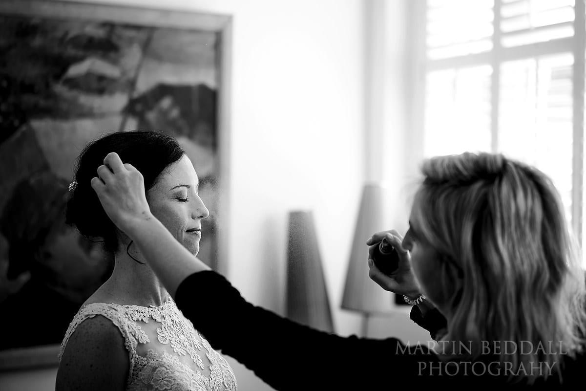 Bride makeup in Lewes