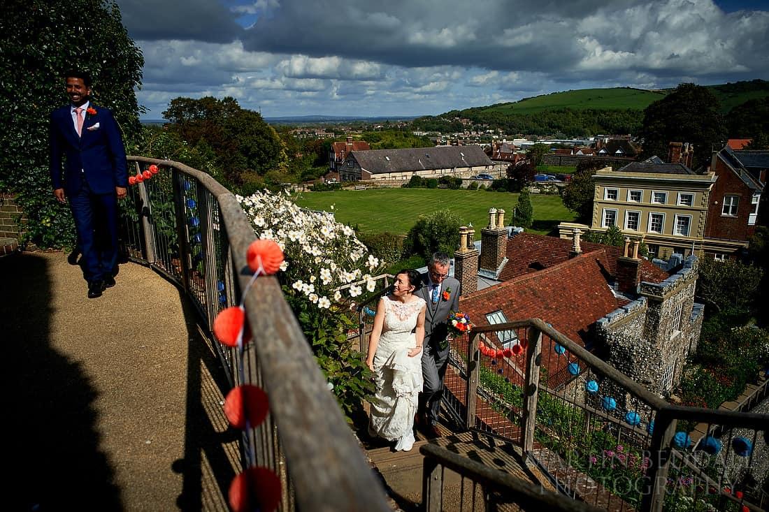 Lewes castle wedding ceremony