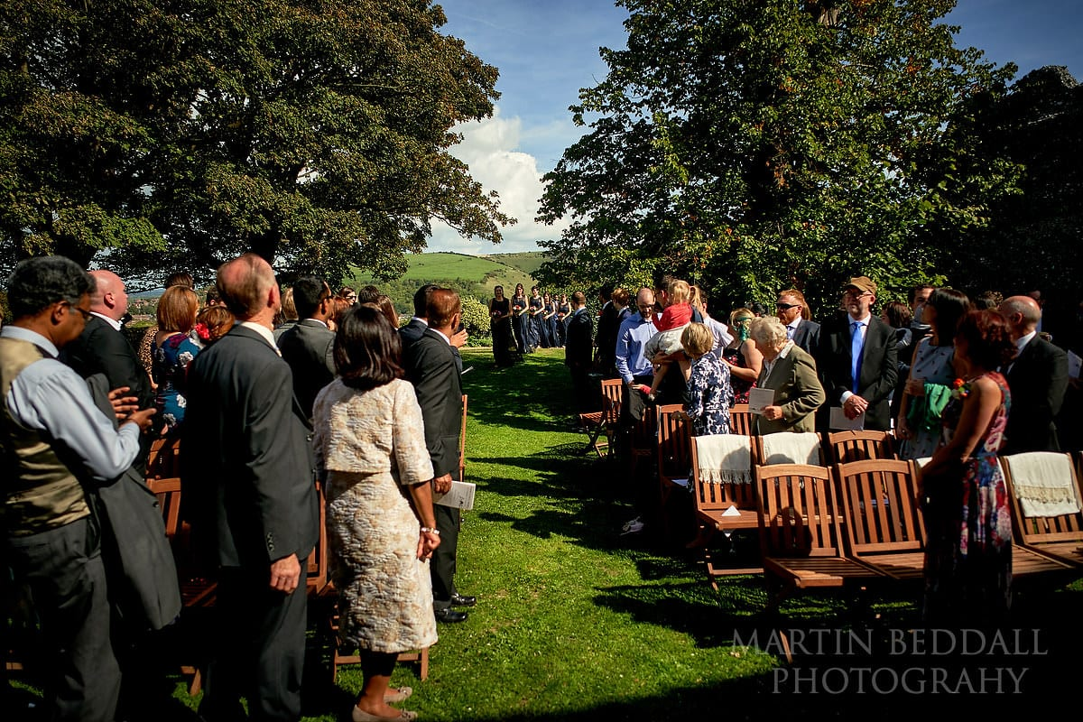 Start of the openair wedding ceremony in Lewes