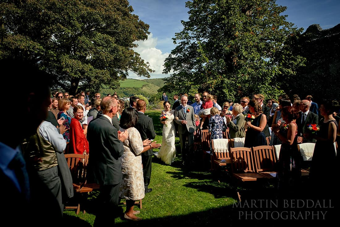 Lewes castle wedding ceremony arrival