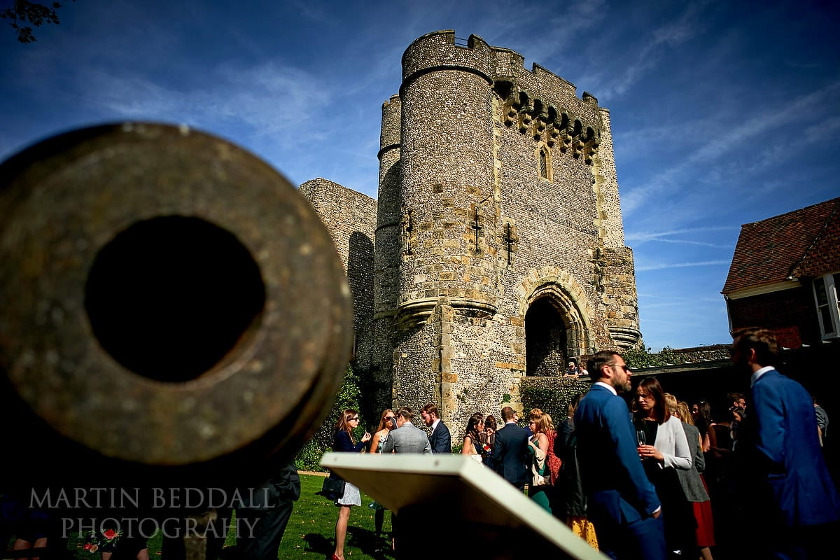 Drinks reception at Lewes Castle