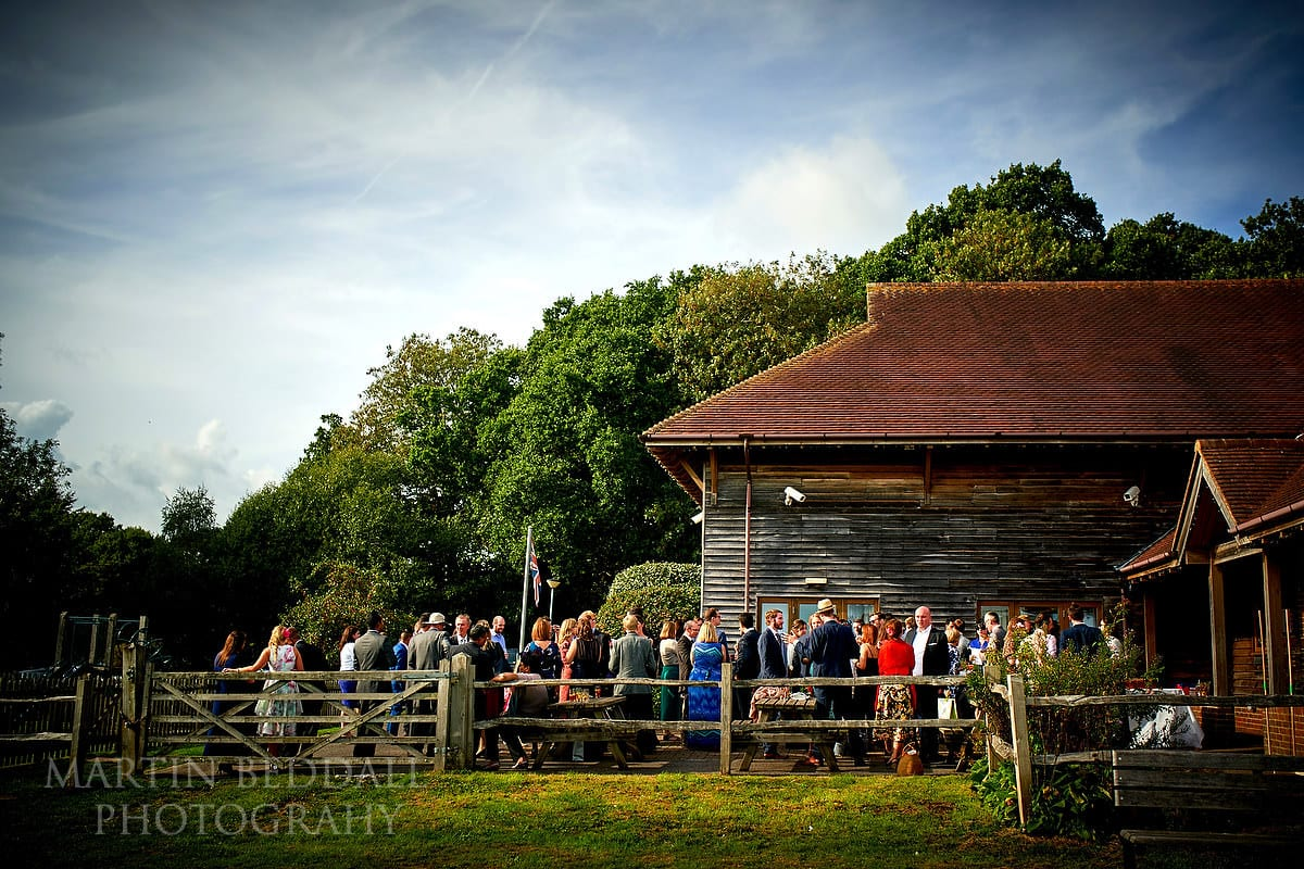 Village hall wedding reception in Sussex