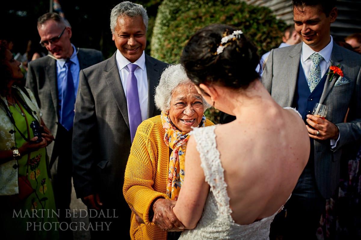 Bride meets groom's grandmother