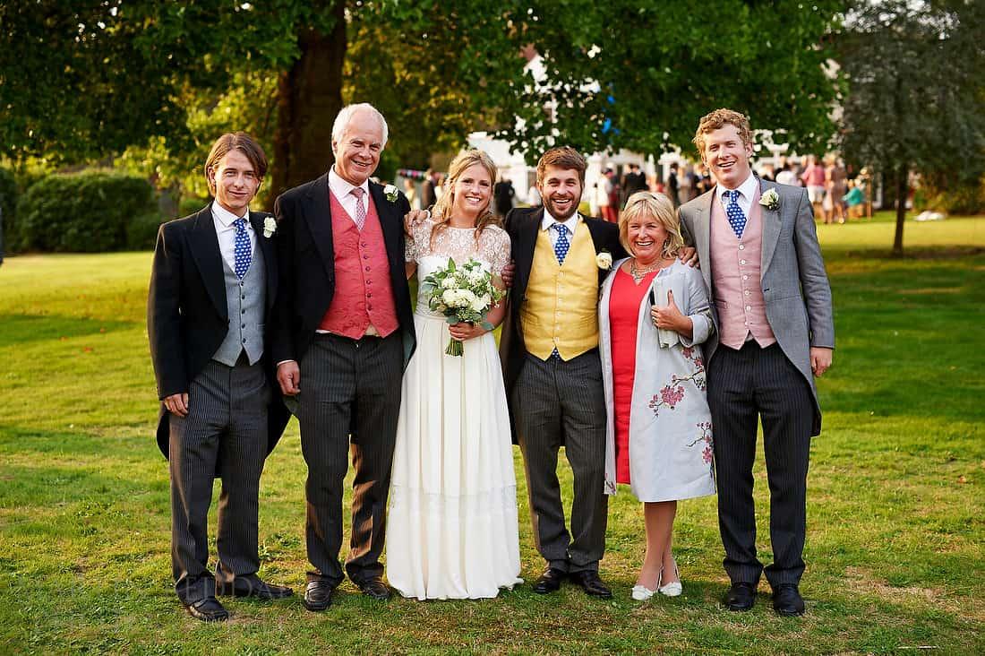 Hampshire wedding group shot