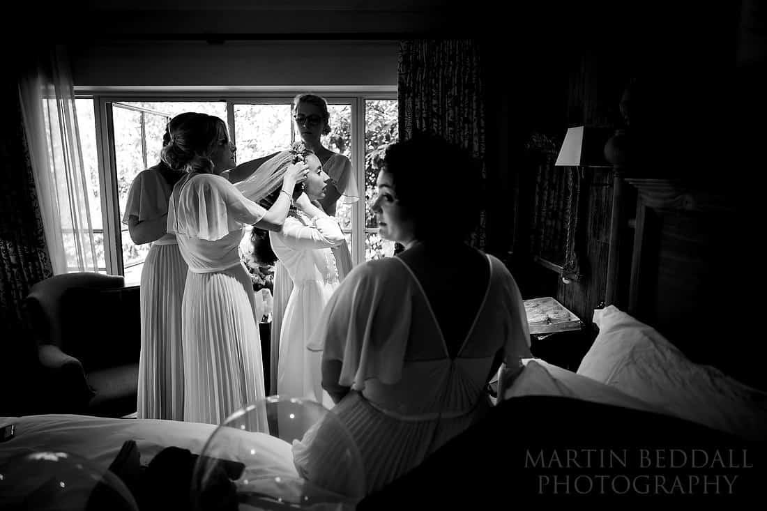 Bridal veil on