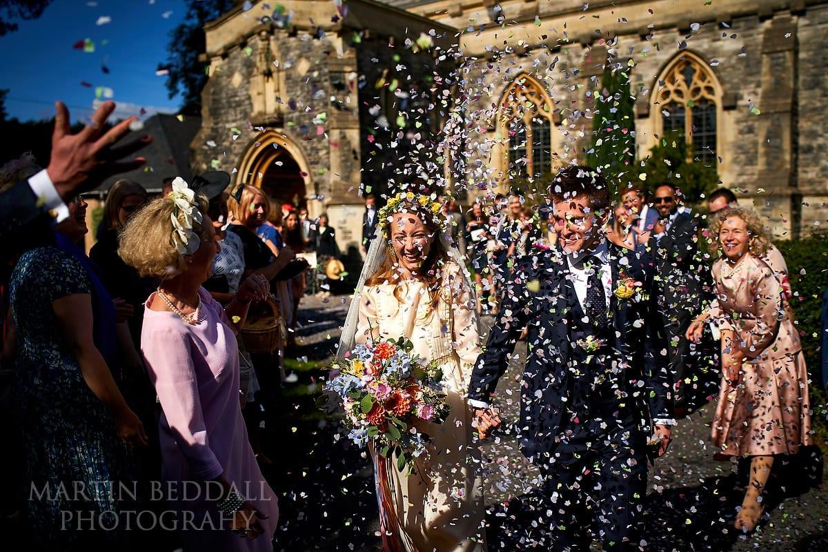 Confetti at Brockenhurst wedding