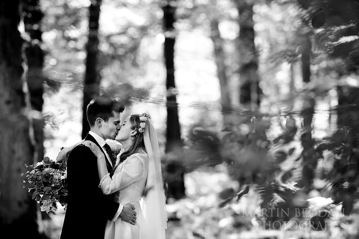 Bride and groom portrait in the New Forest
