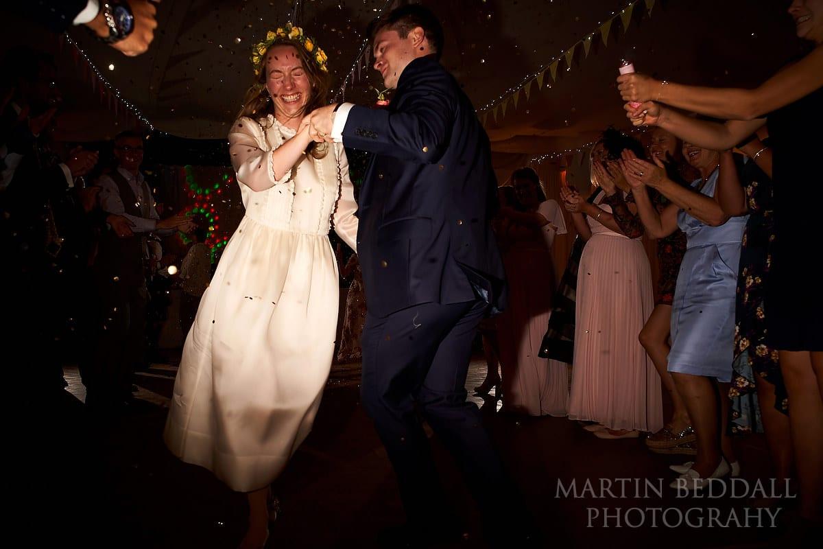 First dance to start the wedding ceilidh