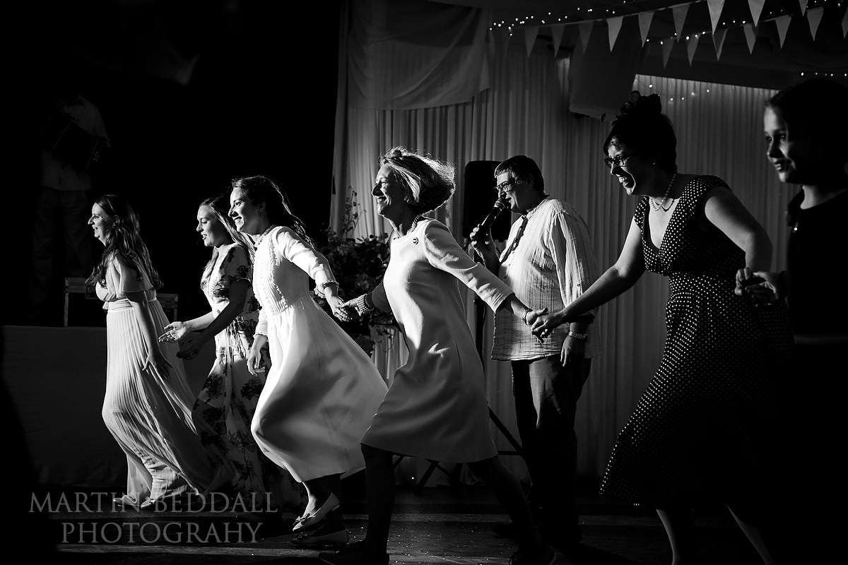 Wedding ceilidh at Brockenhurst village hall wedding