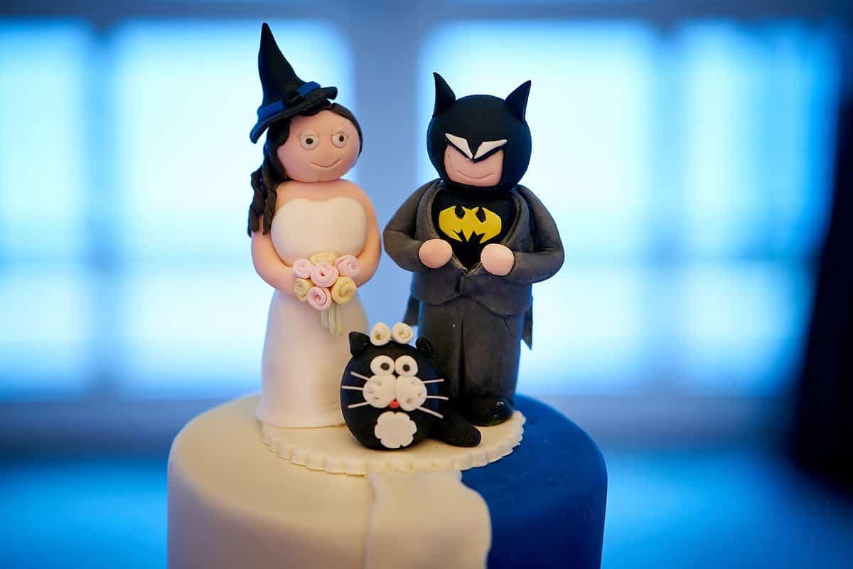 Witchey and Batman cake at Rowhill Grange