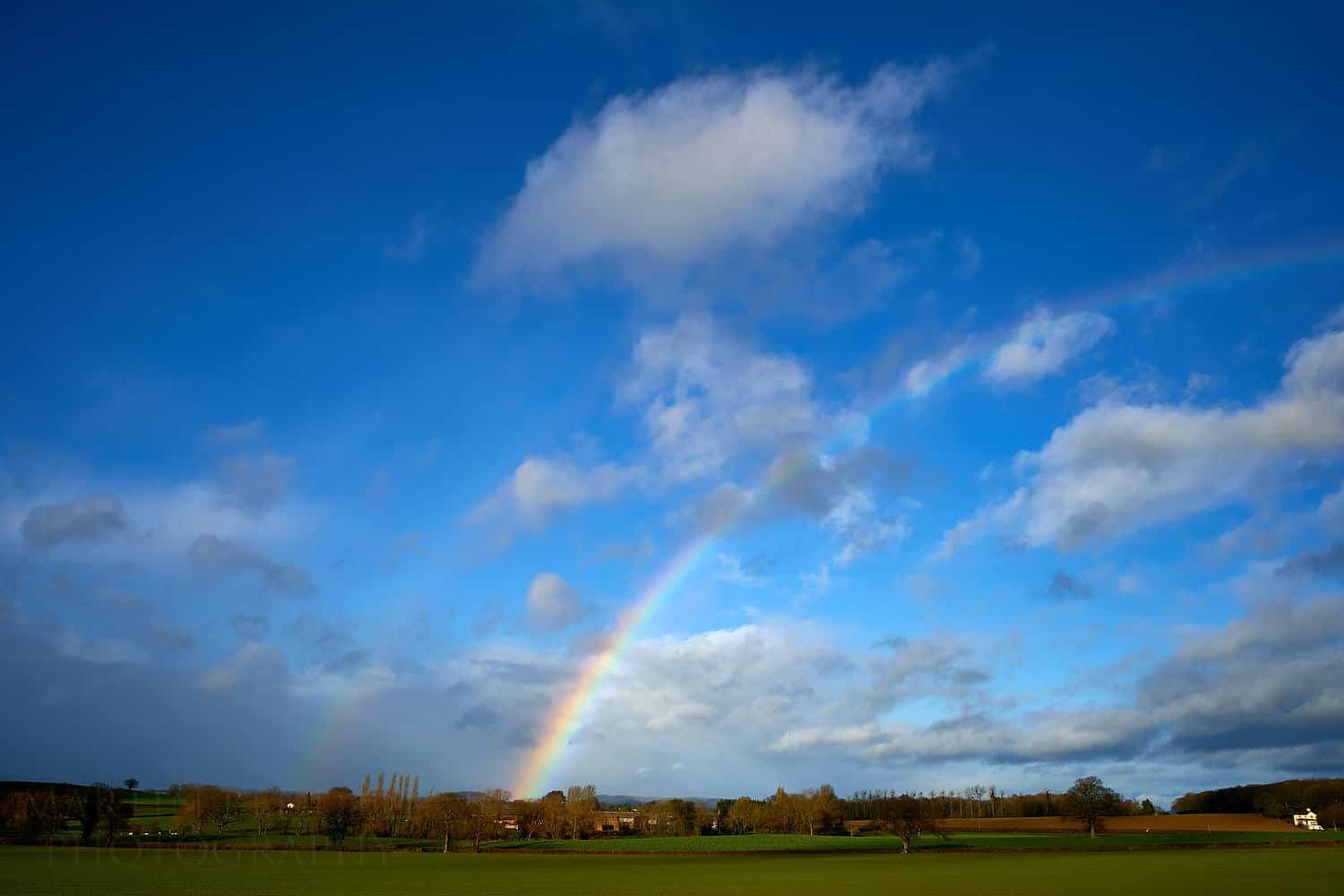 Winter rainbow at Dewsall