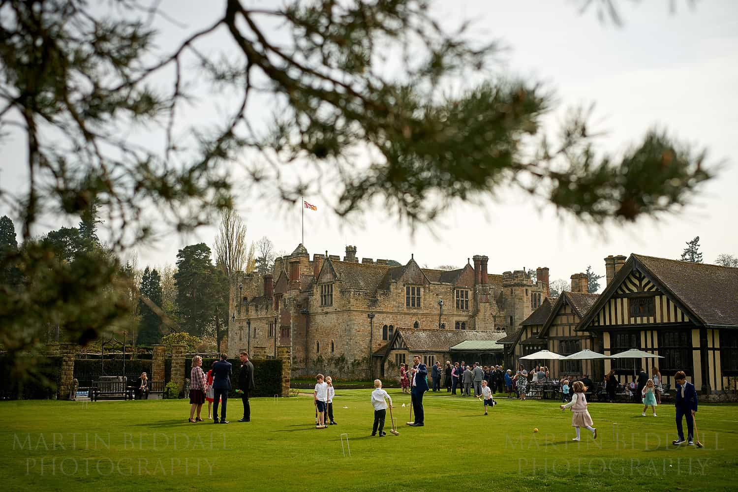 Croquet at an Astor Wing wedding at Hever