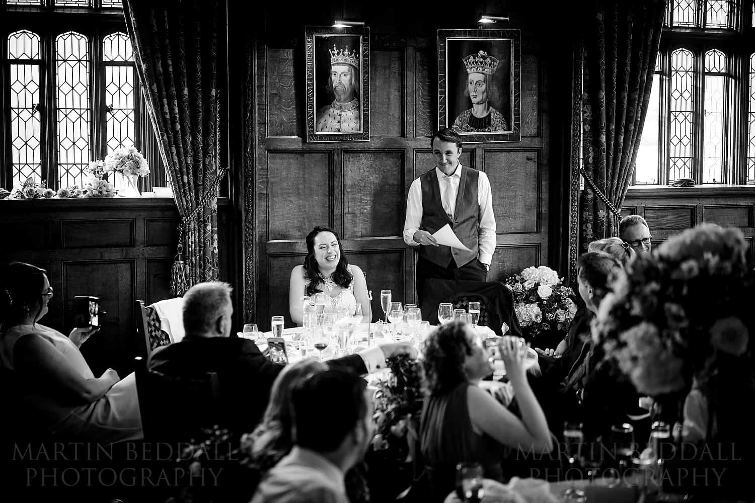 Groom's speech at Hever castle