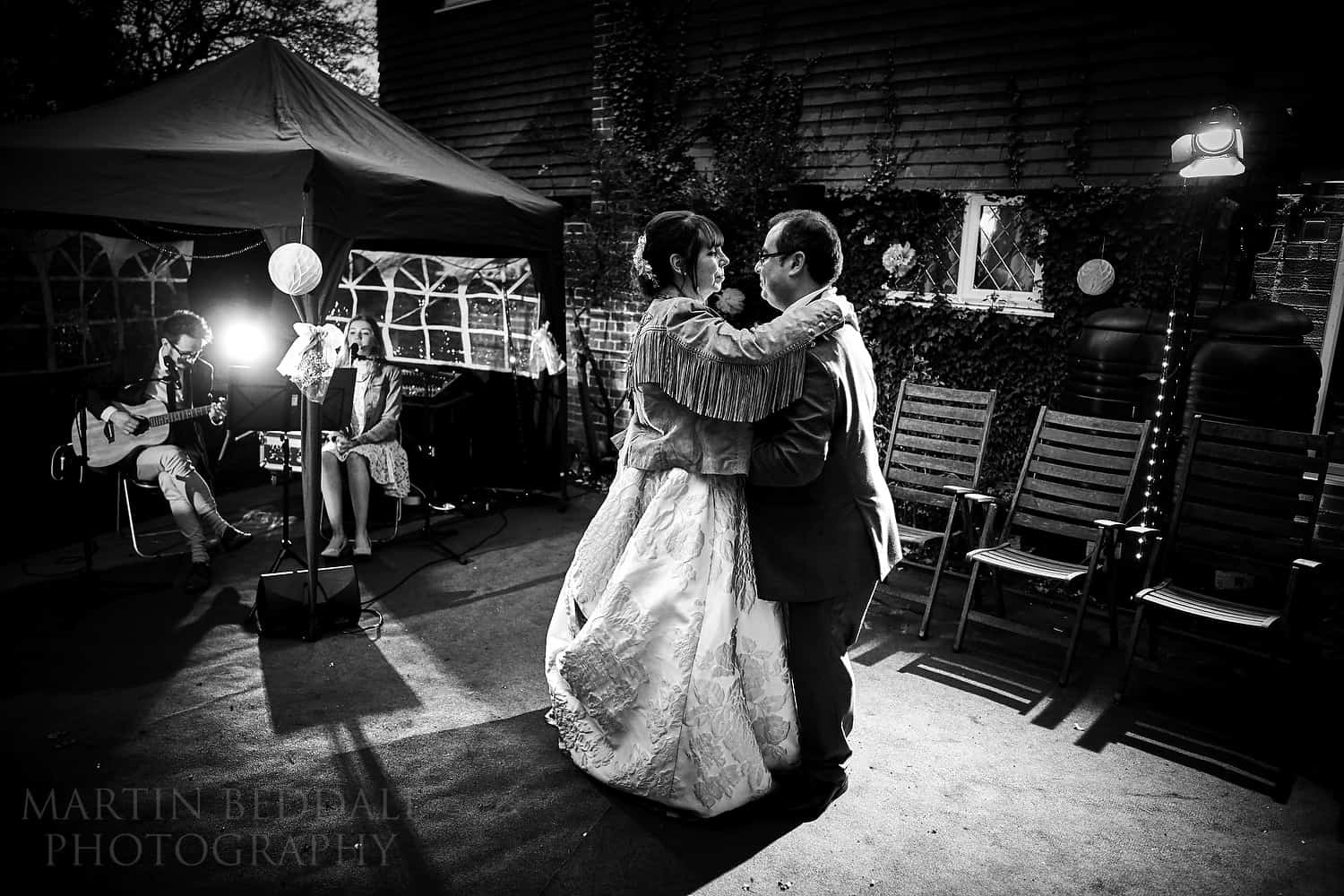 First dance in the garden