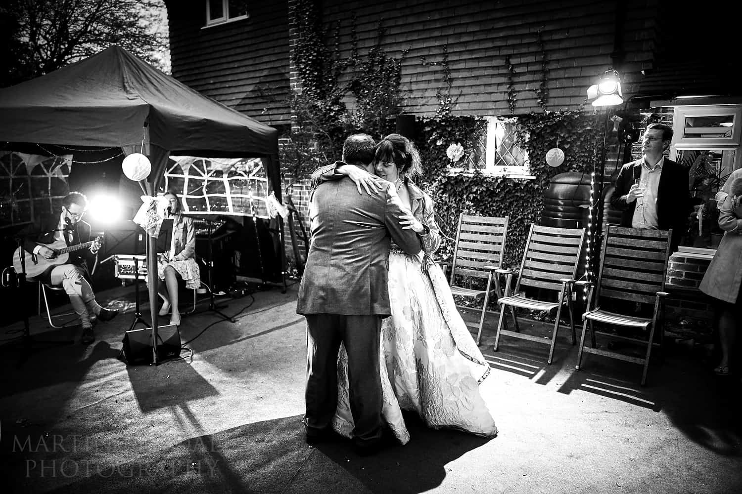 First dance in their garden
