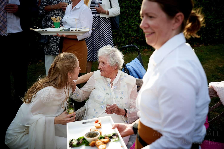bride talks to her nan