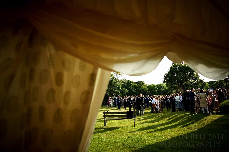summer evening wedding reception