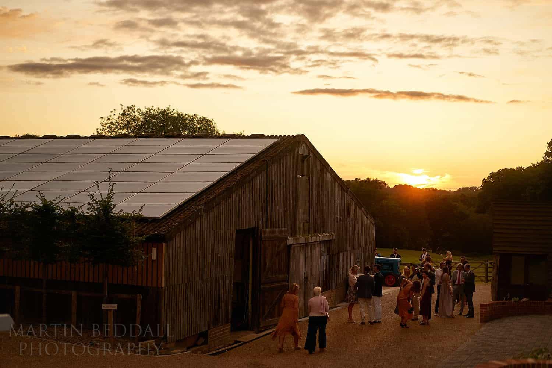 Evening at Oak Barn wedding