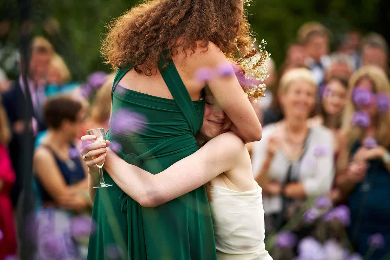 Hugging your best friend during her speech