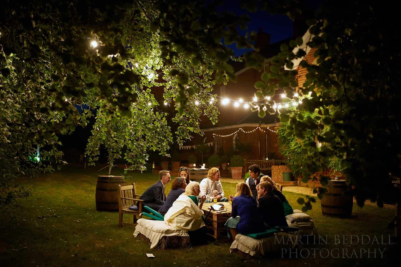 Summer wedding evening