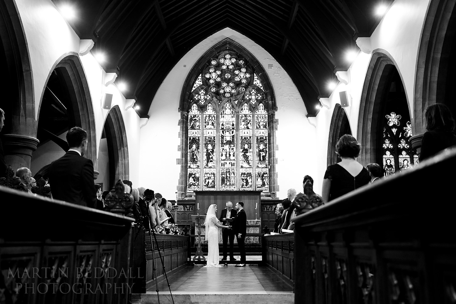 Wedding ceremony in the chapel at Brighton College