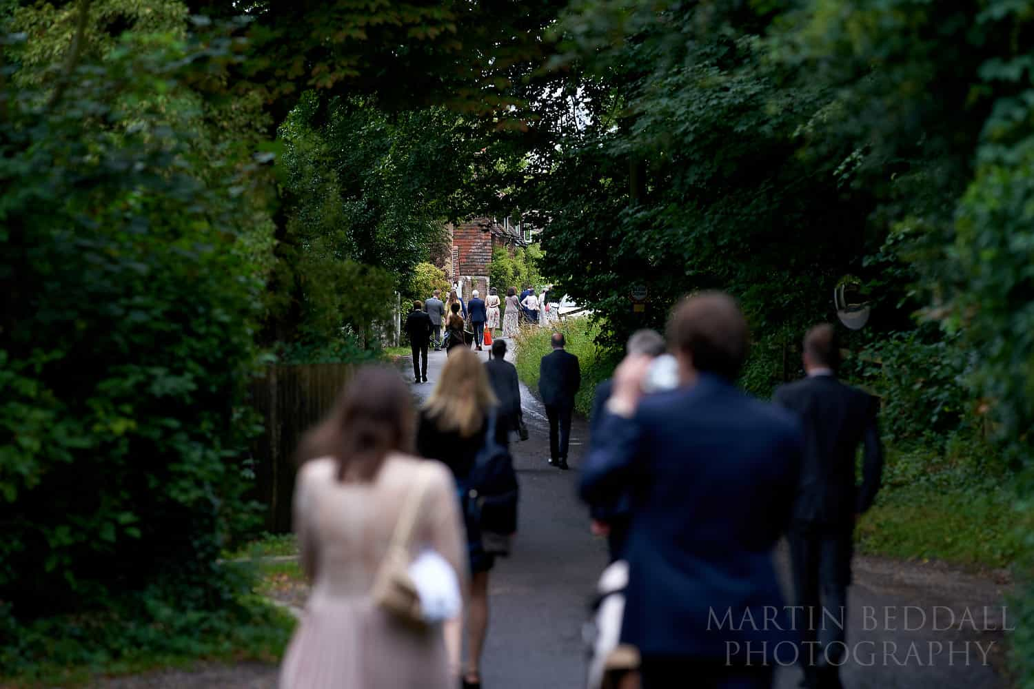 Country lane wedding