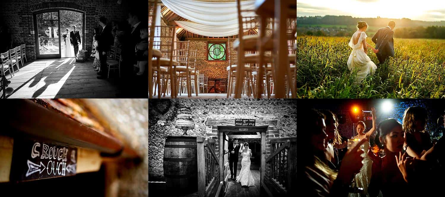 Sussex wedding venue Cissbury Barns