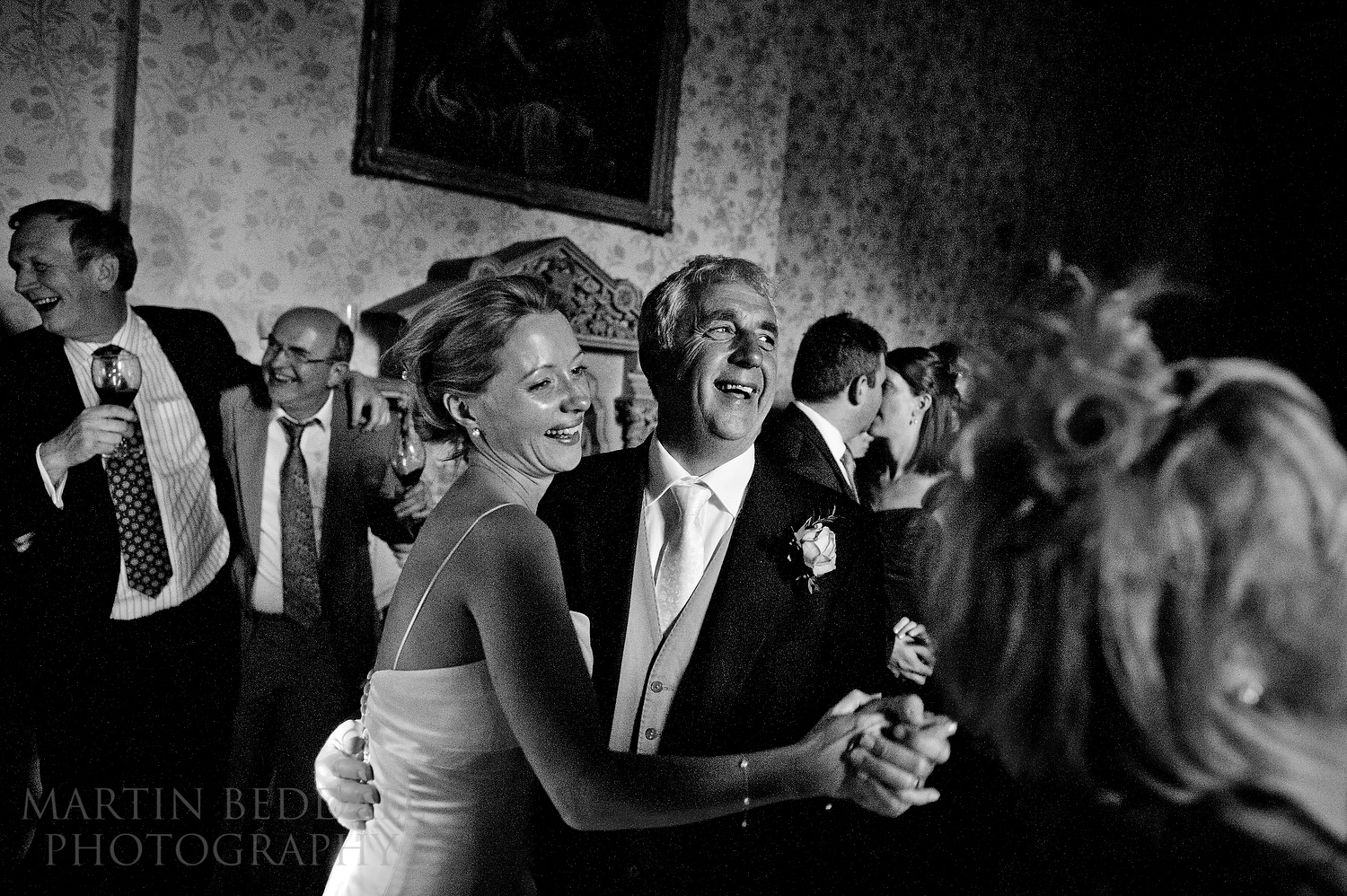Bride and her father dance at The Elvetham hotel