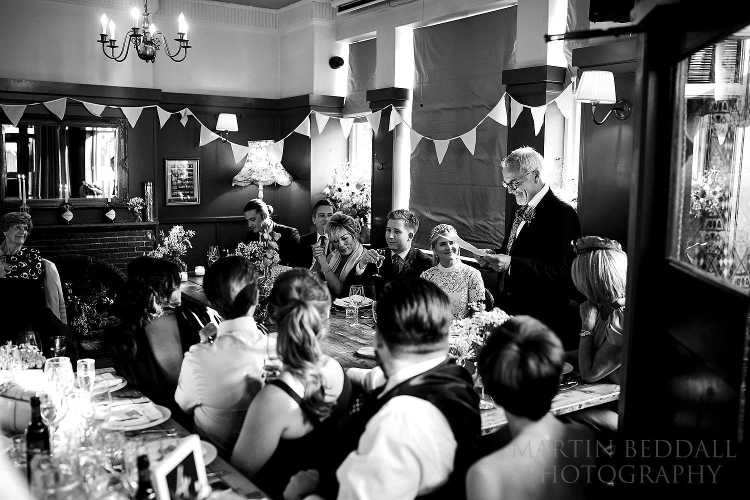 Father of the bride speech in a London pub