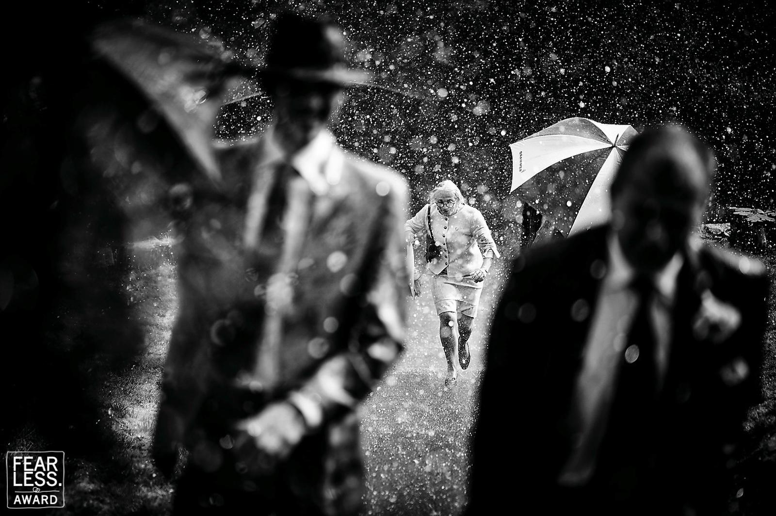 Wet wedding award winning wedding photography
